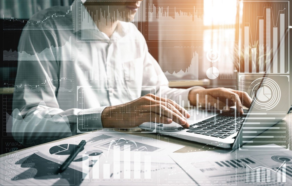 Big Data Technology for Business Finance Concept