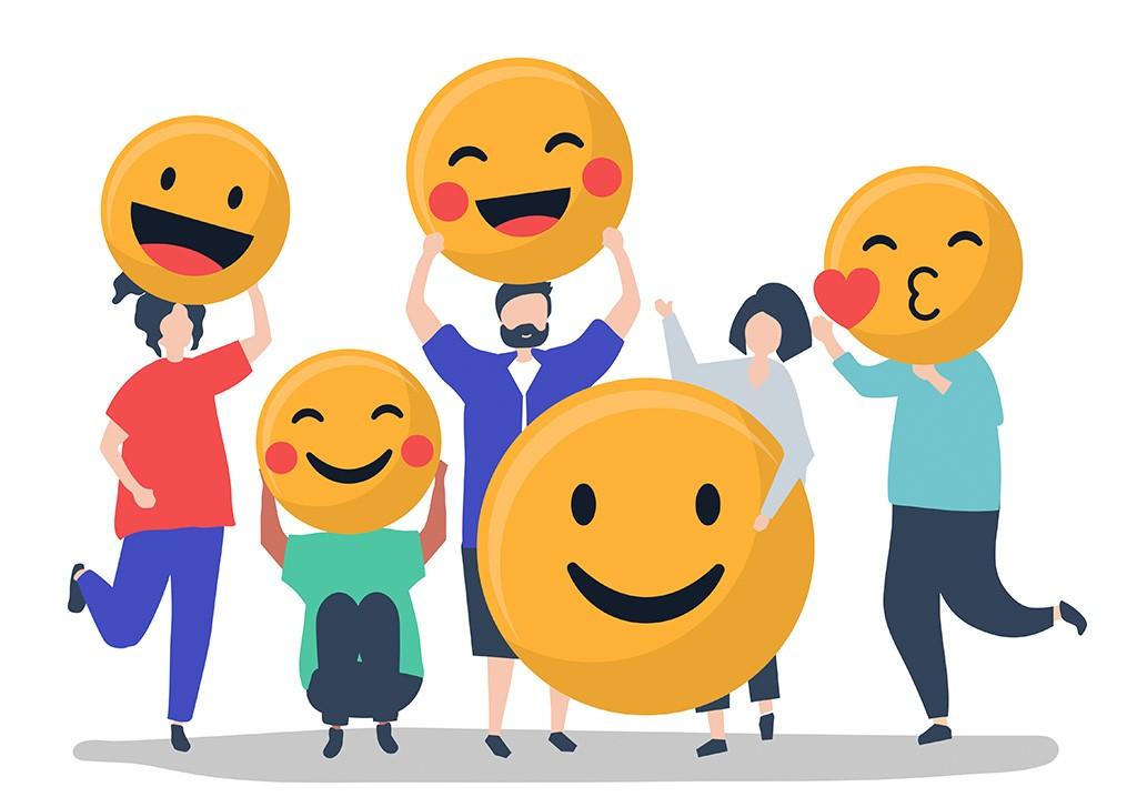smiling emojis