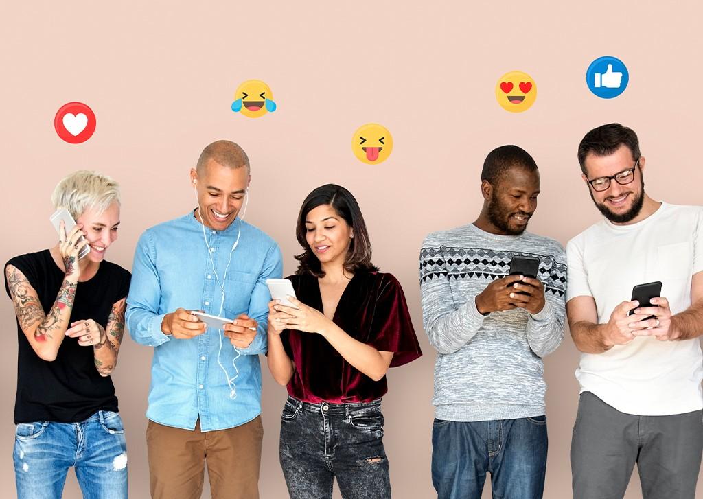 people using emojis
