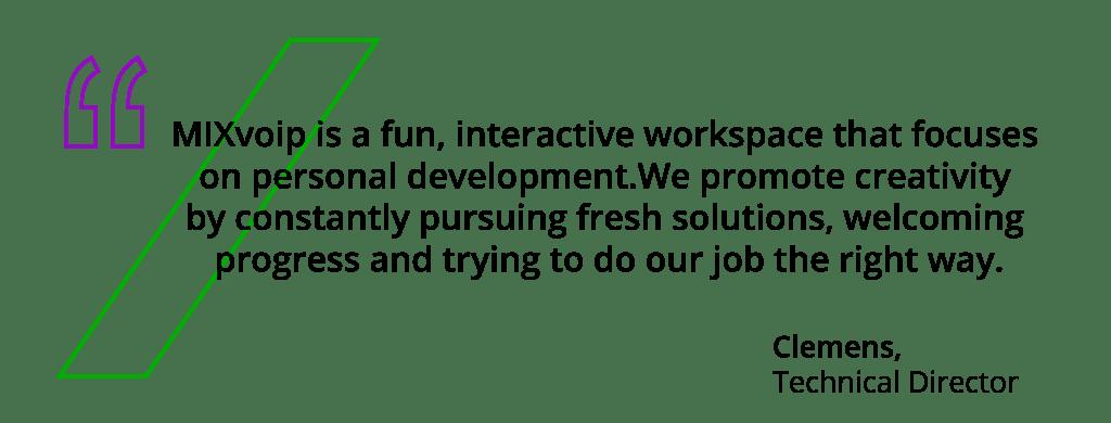 Mixvoip's technical director testimonial