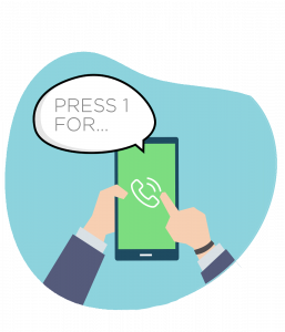 Interactive Voice Response press touch menu