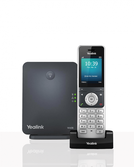 Yealink W60P DECT IP phone handset base station