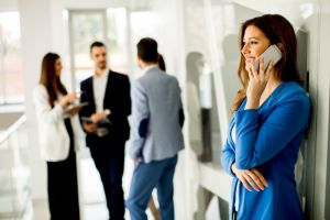 telephony business woman call