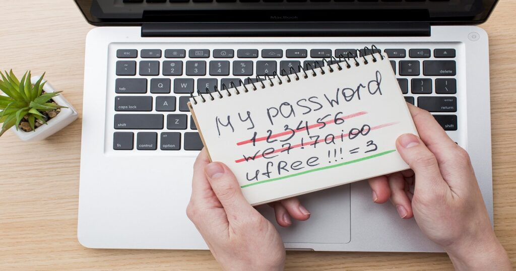 notebook with password laptop