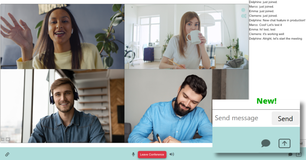 mixvoip video free video conference business meeting new feature chat