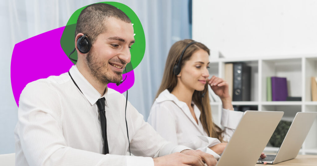 People working at support